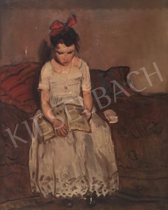 Eladó Szüle Péter - Olvasó kislány festménye