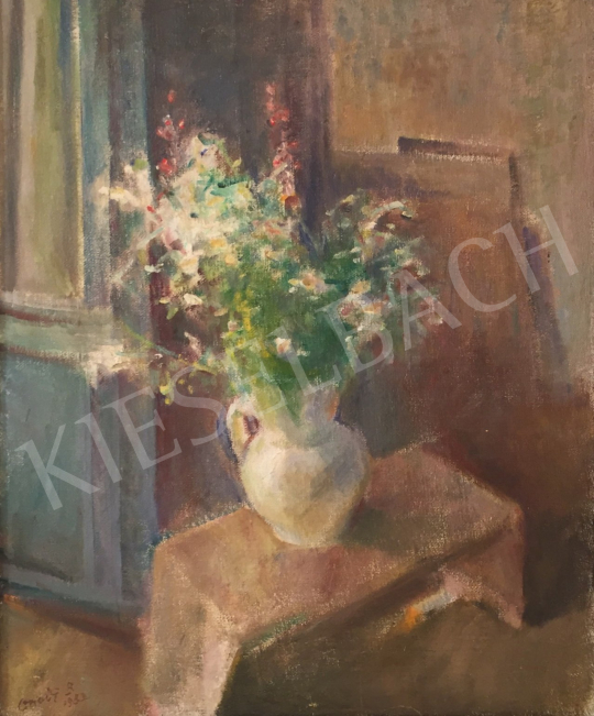 Eladó Onódi Béla - Virágok fehér vázában festménye