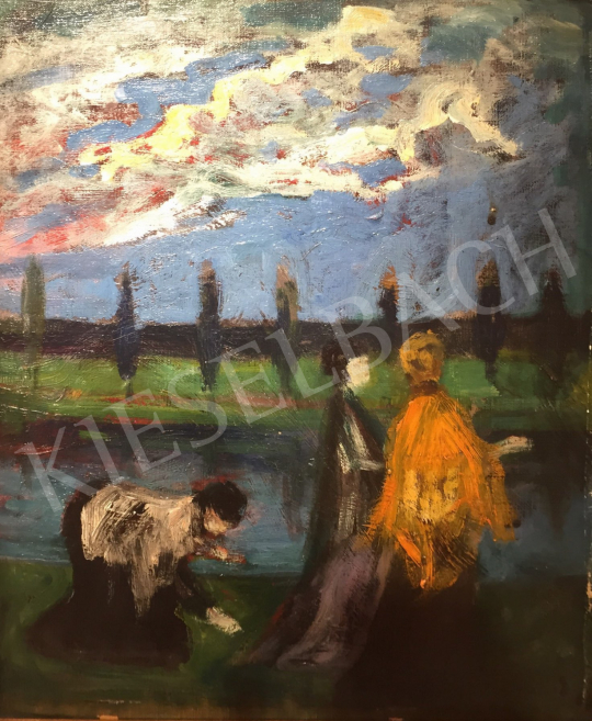 Kernstok, Károly - Three Women by the Lakeside painting