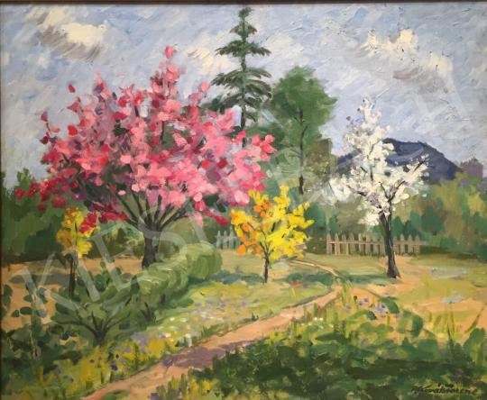 Eladó P. Kováts Ferenc - Mandulafa virágzás festménye