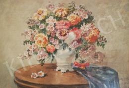 Ismeretlen festő - Virágcsendélet, 1926