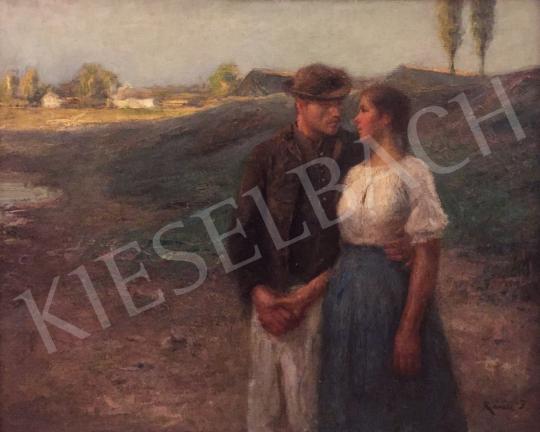 Eladó  Révész Imre - Fiatal pár festménye