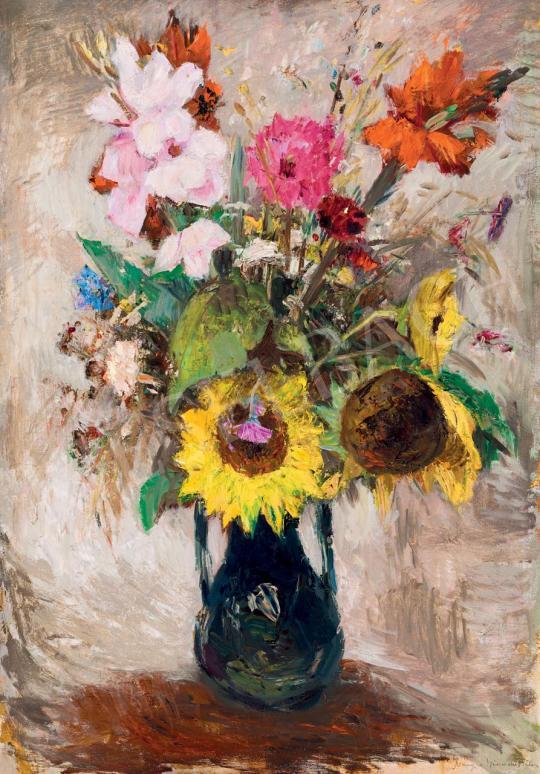Iványi Grünwald Béla - Napraforgós csendélet festménye