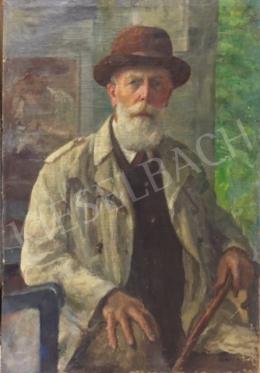 Kunffy, Lajos - Self-Portrait