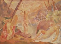 Josef Plenk - Niobidák, (Fürdőző aktok), 1922