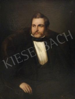 Jakobey Károly - Fiatal házaspár (Férfi portré)-A fiatal házaspár (Női portré) című festménnyel együtt: 1 200 000 Ft