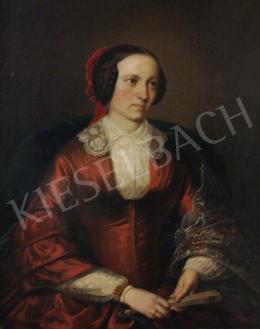 Jakobey Károly - Fiatal házaspár (Női portré)-A fiatal házaspár (Férfi portré) című festménnyel együtt: 1 200 000 Ft