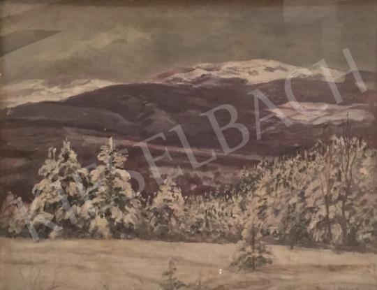 Szlányi Lajos - Téli táj festménye