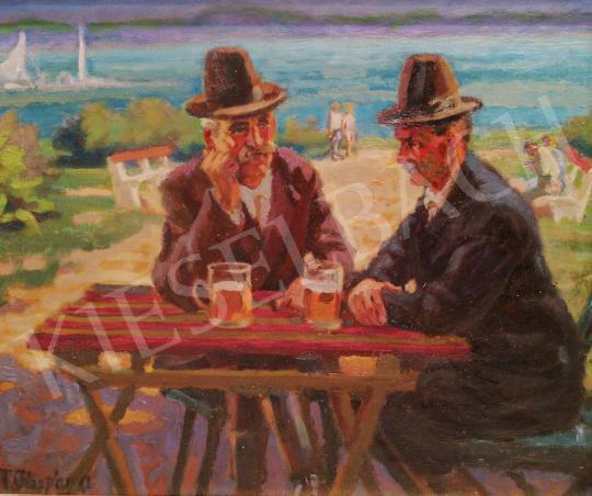 Eladó Felekiné Gáspár Anni - Balaton-parton festménye