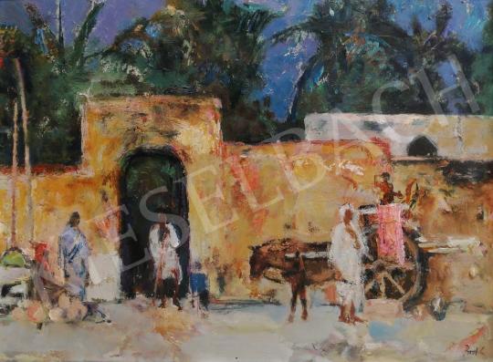 Eladó Bod László - Indiai utcarészlet festménye