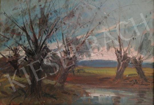 Metykó Gyula - Fűzfák festménye