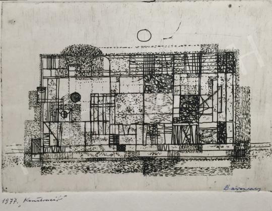 Eladó  Barcsay Jenő - Konstrukció, 1977 festménye
