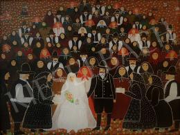 Gombkötőné Tóth Ilona - Falusi esküvő a násznéppel, 1991