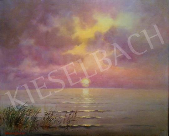 For sale Mészáros, Jenő - Sunset by the Lake Balaton, 1942 's painting