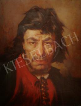Polczer Lajos - Férfi portré ünnepi öltözékben