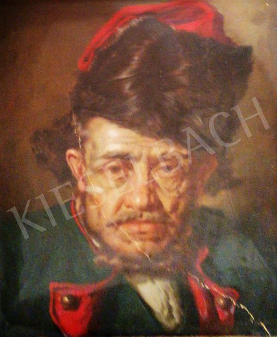 Polczer Lajos - Idős férfi portré festménye