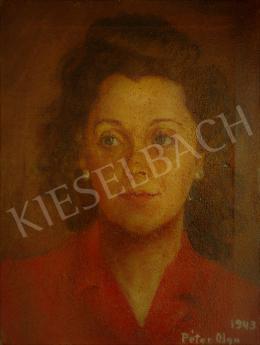Péter Olga - Fiatal női portré, 1943