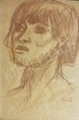 Czóbel Béla - Lány portré