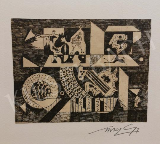 For sale  Hincz, Gyula - Abstract Design 's painting