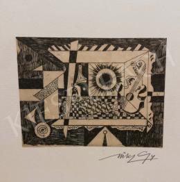 Hincz Gyula - Absztrakt kompozíció hangszerrel