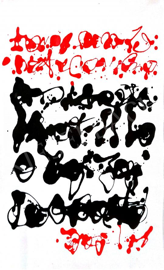 Korniss, Dezső - Red-Black Calligraphy painting