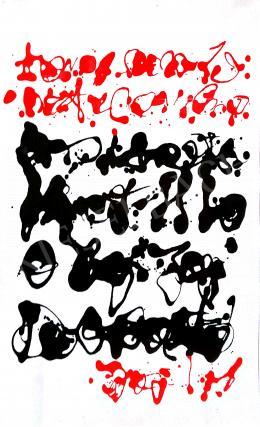 Korniss Dezső - Piros-fekete kalligráfia