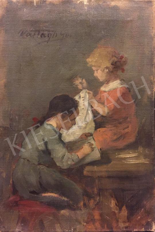 Eladó Vastagh György - Játszó gyerekek festménye
