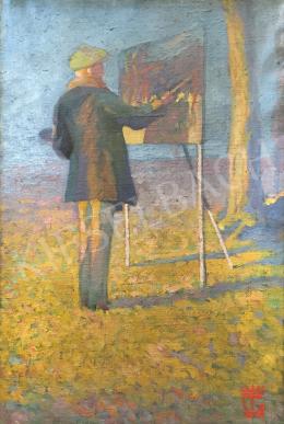 Ismeretlen festő - Festő szabadban