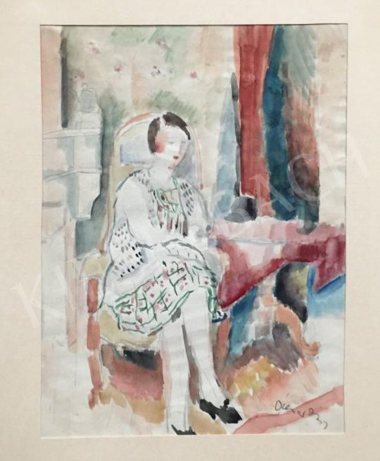Eladó  Diener-Dénes Rudolf - Ülő lány festménye