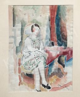 Diener-Dénes Rudolf - Ülő lány
