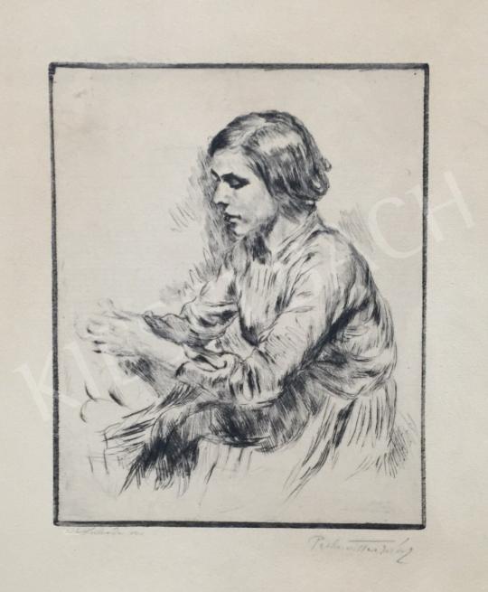 Perlmutter Izsák - Menyecske festménye