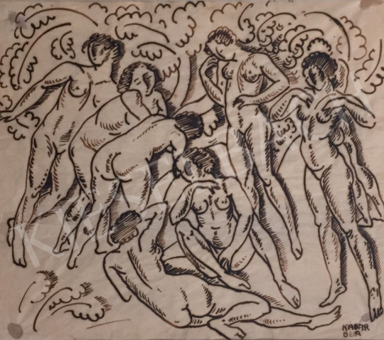 For sale  Kádár, Béla - Bacchanalia 's painting