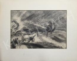 Egry József - Tájkép lóval