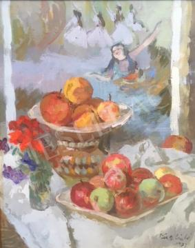 For sale Tóth B. László - Still-Life with Degas Poster, 1973 's painting