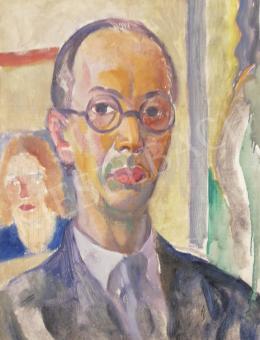 Schönberger Armand - Műtermi önarckép