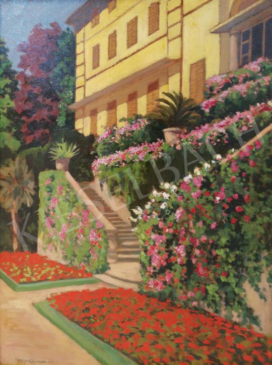 Conrád, Gyula - Hanging Gardens, 1911 painting