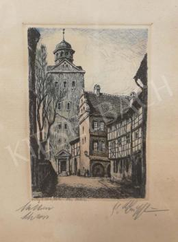 Unknown Artist with Unreadable Signature - City View
