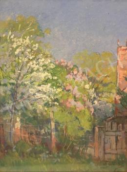 Halasi Horváth István - Virágzó fák, 1958