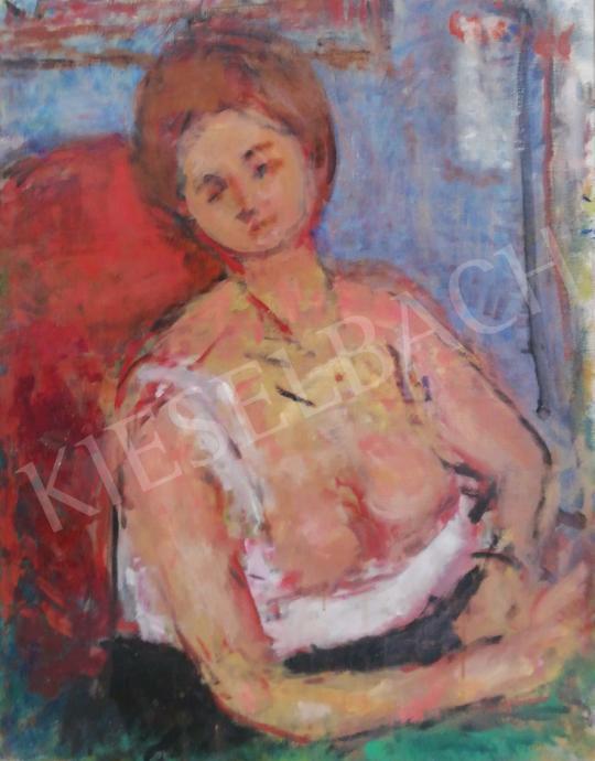 Eladó  Czóbel Béla - Női félakt festménye