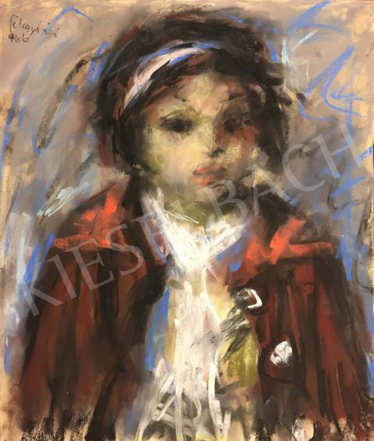 Eladó  Félegyházi László - Vörösruhás kislány festménye