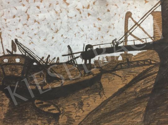 Eladó Ismeretlen festő - Kikötő festménye