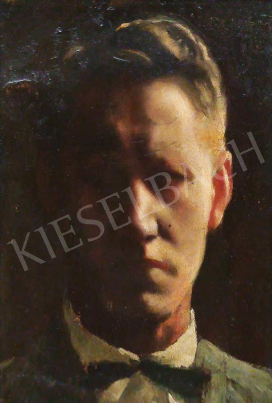 Eladó Ismeretlen festő - Csokornyakkendős férfi portré festménye