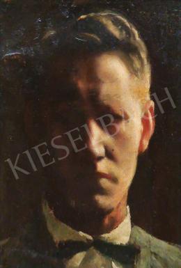 Ismeretlen festő - Csokornyakkendős férfi portré