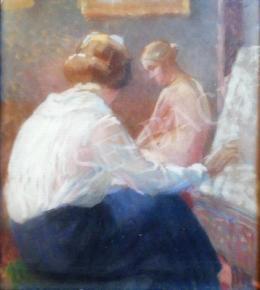 Ismeretlen festő - Lányok műteremben