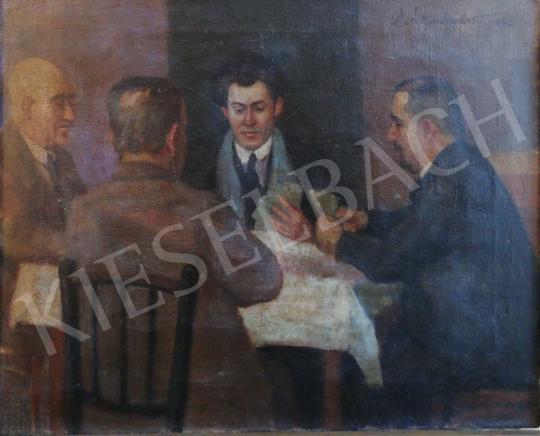 Eladó Ismeretlen festő - Férfi társaság (Ulti parti) festménye