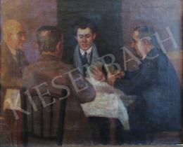 Ismeretlen festő - Férfi társaság (Ulti parti)