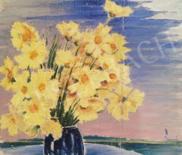 Lampé Sándor - Sárga virágok vázában