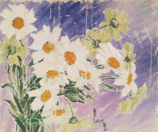 Eladó Lampé Sándor - Fehér margaréták festménye