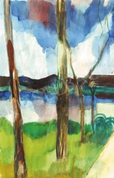 Eladó  Bernáth Aurél - Kert Gödön festménye