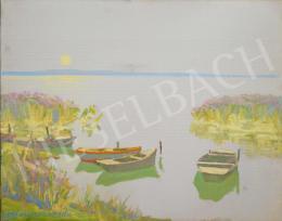 Csáki-Maronyák József - Balaton-part csónakokkal
